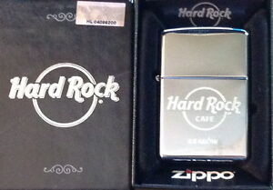 Hard Rock Cafe KRAKOW New Silver Chrome Finish ZIPPO Lighter New Box w/Sticker