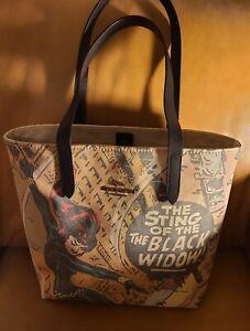 NWT Coach X Marvel Black Widow Leather & Canvas