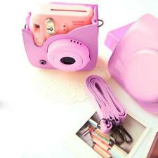Pink Leather Camera Case Bag Shoulder Strap for Fuji Fujifilm Instax Mini8