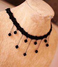 Gothic Fashion Vintage Women Chain Pendant Statement Bib Choker Necklace Lace