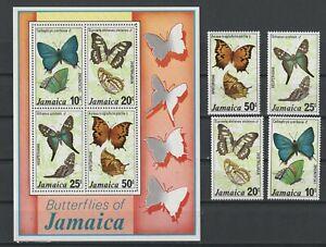JAMAICA BUTTERFLIES (435-8a) NH. SCV 10.80
