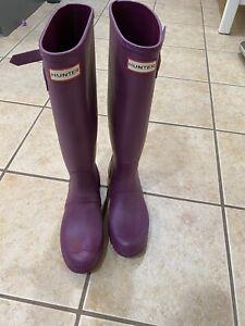 Hunter Rain Boots Women's Size 9 - Purple