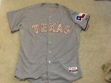 RARE Texas Rangers GAME USED Camo JERSEY Carlos Corporan MLB Authentic Baseball