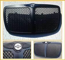 Black Mesh Bentley Grille w/Custom Bentley Wing for 2005-2010 Chrysler 300/300C