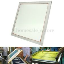 "20"" x 20"" Aluminum Silk Screen Printing Press Screens Frame 110 White Mesh Count"