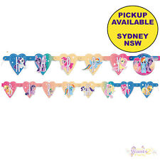 MY LITTLE PONY PARTY SUPPLIES HAPPY BIRTHDAY JOINTED BANNER DECORATIONS