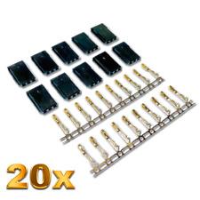 20 Stück Female Servo Stecker Vergoldet JST-SH Futaba Robbe kompatibel Crimp Pin