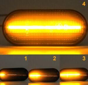 Für Seat Ibiza Cordoba Toledo Leon LED Seitenblinker dynamisch Lauflicht Schwarz