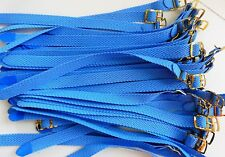 Lot 5 Bracelet Montre Watch Bands Nylon Tressé Style Nato 12 mm Bleu Ciel L 22
