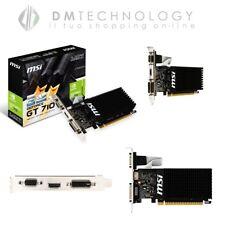SCHEDA VIDEO 1GB DDR3 GEFORCE GT 710 MSI NVIDIA VGA DVI HDMI 1GD3H LP