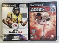 Lot of 2 Playstation 2 PS2 Games MLB 2k12 And NCAA Football 09