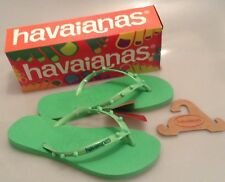HAVAIANAS H. SLIM CANDY FLIP FLOPS - GREEN - SIZES 3 TO 8 - BRAND NEW