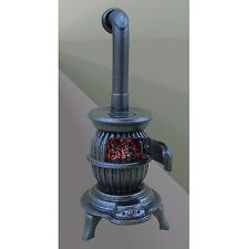 The Majestic Fat Boy Cast Iron Finished Lit Potbellied Stove, 1.12th Scale