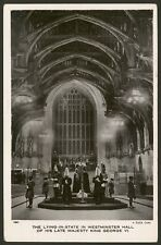 King George VI Lying-in-State in Westminster Hall. London. Real Photo Postcard 2