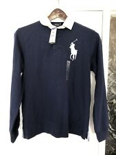 Polo Ralph Lauren Navy Rugby Shirt Medium Big Pony