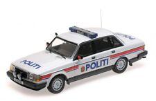 MINICHAMPS 1986 Volvo 240 GL 'Politi Norway' Police Car LE of 300pcs 1:18*New!