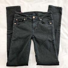 7 For All Mankind Cristen Black Jeans Stretch Cotton Sz 26