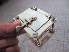 Architectural Salvage Vintage Brass Door Guard Old Peephole Peep Hole Speakeasy