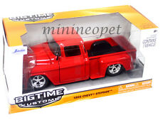 JADA BIGTIME 90160 1955 55 CHEVY STEPSIDE PICK UP TRUCK 1/24 DIECAST RED