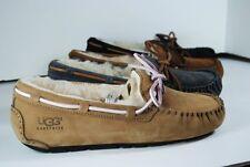 UGG Australia Women's Dakota Moccasin Slippers 5612 Black Esp Tab NEW