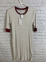 Joie Stripe Tralena Crew Neck Short Casual T-Shirt Dress Ribbed Size XL Gift