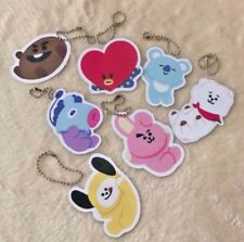 BTS BT21 Gartoon Bighit Korean Key Ring Group Coated Chain Cute Handmade 7pcs