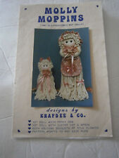 """Molly Moppins Old Fashion Mop Doll Sewing Craft Pattern 12"""" & 20"""" Doll CUT"""