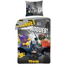 Housse de Couette (140) et 1 Taie d'Oreiller LEGO BATMAN