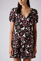 Topshop Floral Print Tea Dress UK 10 EURO 38 US 6 BNWT RRP £45