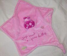 CLOUD B Baby Ladybug Lovey Security Blanket Pink Star Sleep Sound Grow Healthy