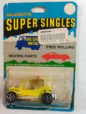 MAJORETTE SUPER SINGLES YELLOW VW BEACH DUNEBUGGY .69 ORIGINAL PRICE