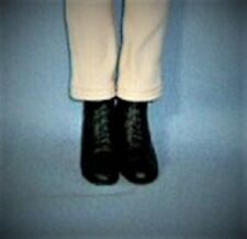 Black Equestrian boots FM Jackie Kennedy Riding Booties shoes fit 15-16in doll