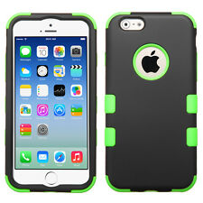 For iPhone 6 / 6S - Hard & Soft Rubber Hybrid Rugged Impact Defender Skin Case