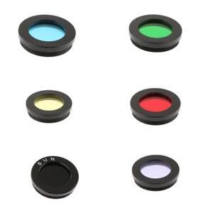 "1.25"" Telescope Color Filter Set Kit for Celestron Eyepiece Planet Nebula 6x"