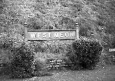 PHOTO  SR WEST MEON RAILWAY STATION NAMEBOARD