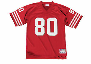 Mitchell & Ness San Francisco 49ers Jerry Rice #80 1990 Replica Jersey, Red, 3XL