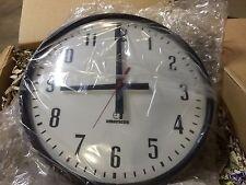 "American Time 15"" Analog Wall Clock, Black Steel case, R64BHDD901"