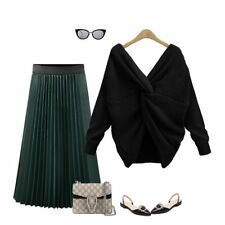 Women Long Sleeve Knitted Sweater Tops Loose Cardigan Outwear Coat Oversized