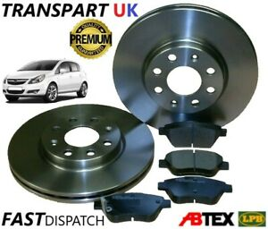 *VAUXHALL CORSA D FRONT BRAKE DISCS AND PADS 1.0 1.2 1.3 CDTI, 1.4 06 to 14