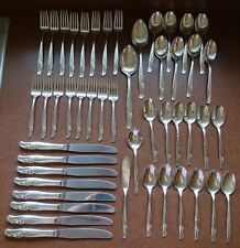 Rogers & Bros. IS Silverplate Flatware Exquisite 1957  48pc Set