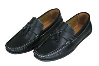 Scarpe mocassini uomo Diamond Class nero calzature espadrillas in ecopelle