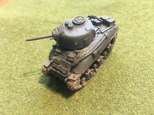 1/100th (15mm) WWII US Painted M4A1 Cast-Hull Tank w M3 Suspension Model