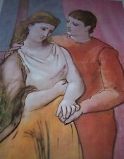 """""""THE LOVERS"""" Young Couple Pablo Picasso Neoclassical Period PARIS Color Print"""