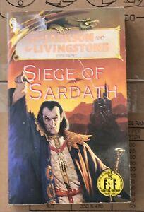 """Rare Fighting Fantasy Book FF49 """" Siege of Sardath """" sticker marked - 99p start"""
