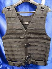 NEW Black Tactical Molle Vest + BELT Lot Build a Vest use our Molle Pouches Hunt