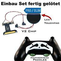 PS4 Controller Remapper gelötet, V2 Chip + Hammer Weiß Paddles und Schrauben