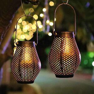 2XRetro solar LED outdoor garden lamp decorative landscape waterproof Chandelier