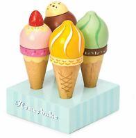 Le Toy Van HONEYBAKE PLAY ICE CREAM SET Wooden Toy BN