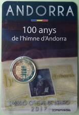 Andorra 2 Euro Gedenkmünze 2017 Hymne CoinCard Euromünze commemorative coin