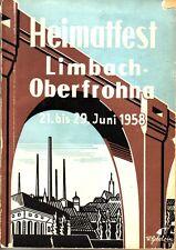 Chronik/Festschrift Limbach-Oberfrohna 1958 b. Hartmannsdorf/Chemnitz /Burgstädt